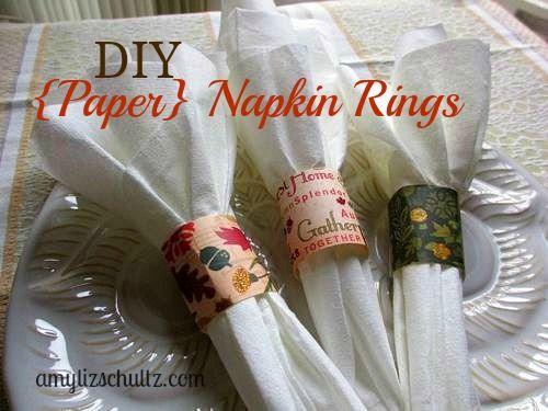DIY Paper Napkin Rings 2