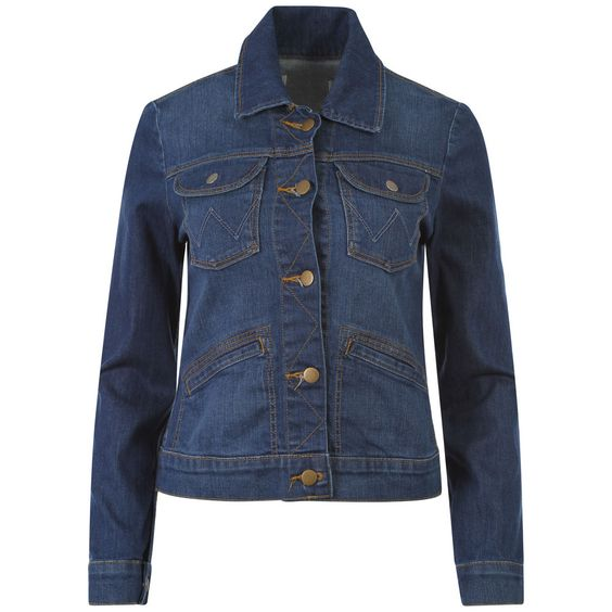 Details about Ladies WRANGLER Jean Denim Jacket Womens Jacket