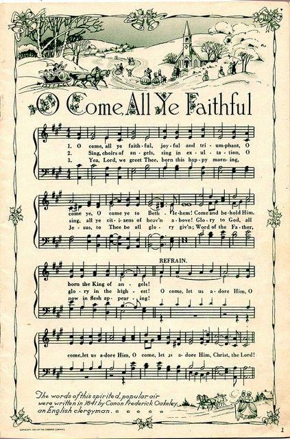 Printable Christmas Songs -- Frame and hang for decorations.:
