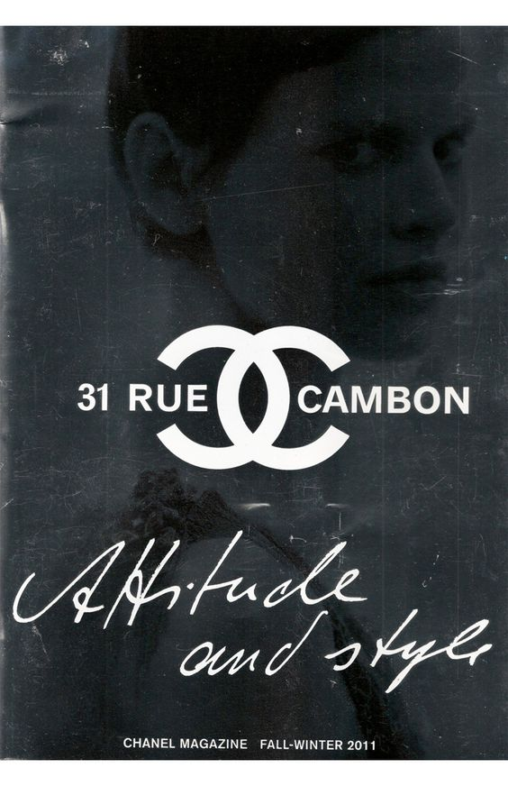 cover of chanel magazine. let me repeat: CHANEL MAGAZINE! (where can i subscribe??)