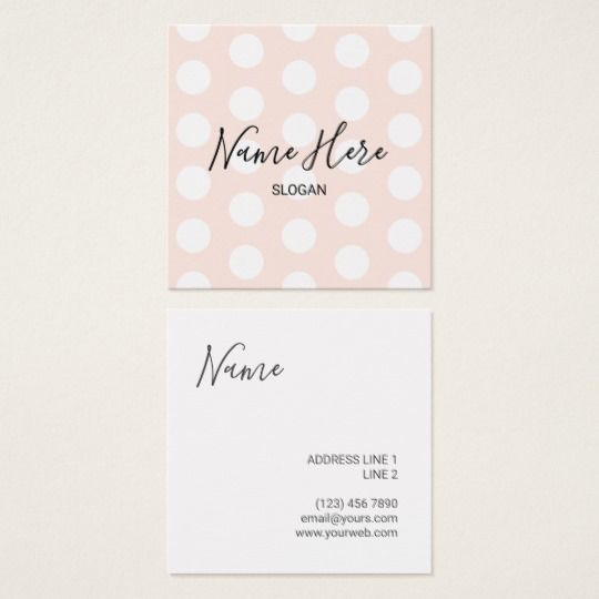 Stylish Modern Polka Dot Square Business Cards Zazzle Com Business Card Pattern Square Business Cards Business Card Design