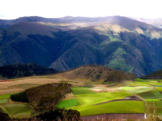 Hill of different colors in Ibarra, Ecuador