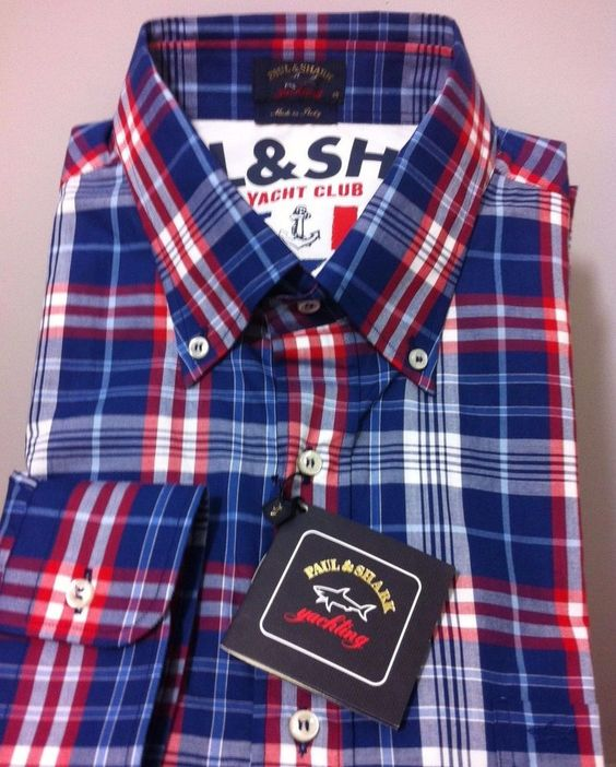 Paul & Shark Yachting Italy luxury Chic & beautiful Shirt 46 ,2XL/56…