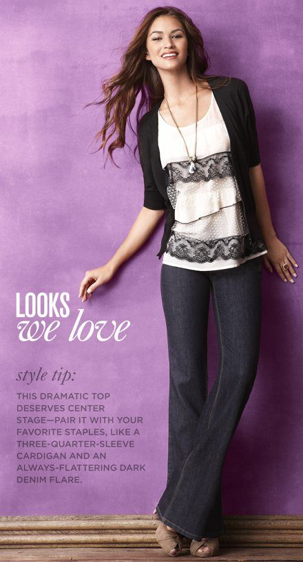 I tried this shirt on in August, but was not willing to pay $60 bucks for it.....still love! Ann Taylor Loft