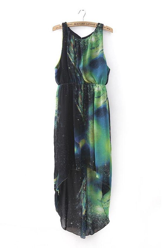 High-low Star Graphic Dress - OASAP.com