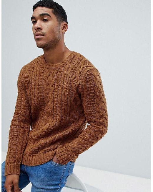 Google Image Result For Https Cdna Lystit Com 520 650 N Photos Asos 05595c49 Asos Yellow He Mens Fashion Sweaters Mens Cable Knit Sweater Cable Knit Sweaters