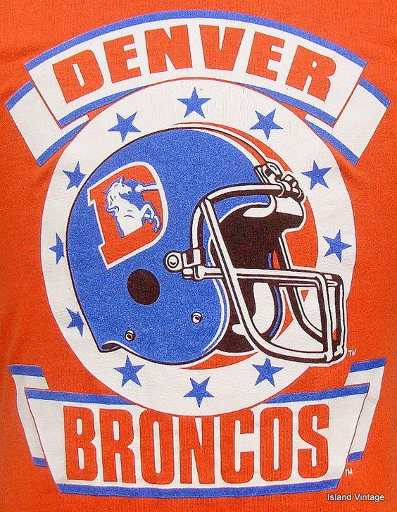 80s Denver Broncos Pictures   Vintage 80's Denver Broncos football t shirt M by retropopmanila  (found by rainbow laguna)
