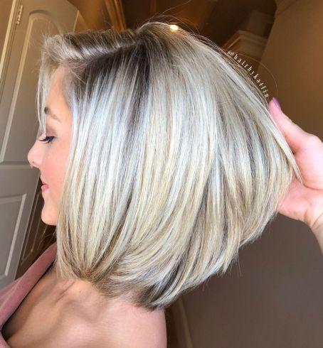 Белая блондинка Боб для густых волос