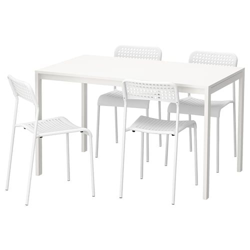 Tarendo Adde Table And 4 Chairs Black 43 1 4 Budget
