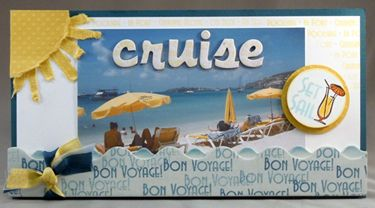 Need to make one of these for my Cruise scrapbook! Cruise stamps from Technique Tuesday.