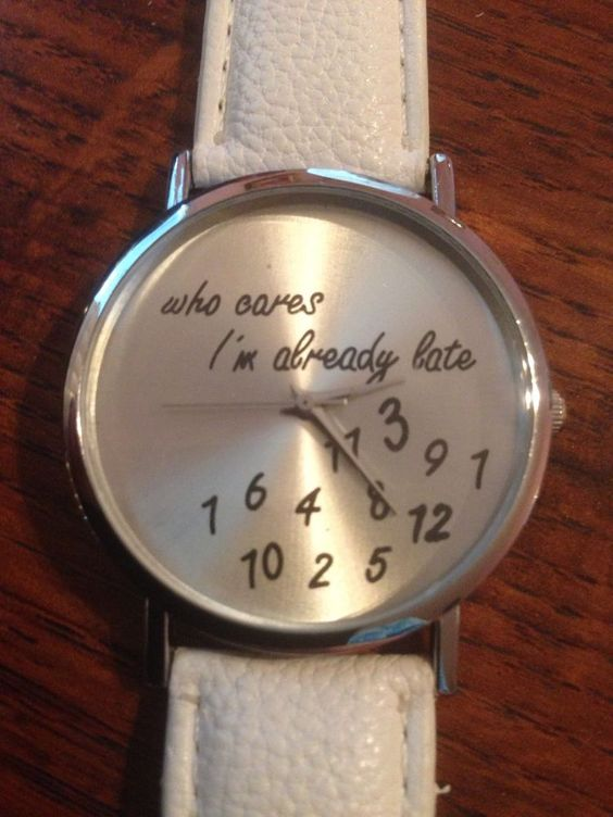 "New ""WHO CARES I'M ALREADY LATE"" White/Silver Watch #Unbranded #Fashion"