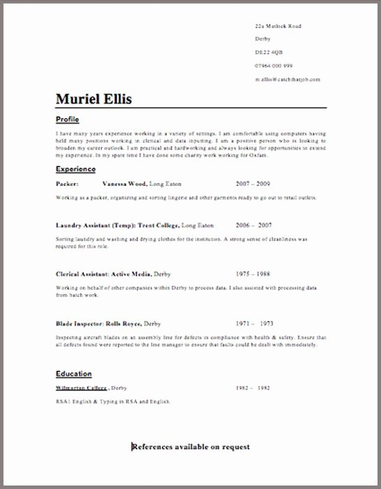 Uk Resume Templates Cv Template Resume Format Examples
