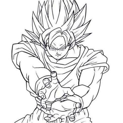 Dibujos De Goku Para Colorear Blogitecno Tecnologia Informatica Internet Gadgets Celulares Hardwa Dibujo De Goku Como Dibujar A Goku Dibujos De Dragon
