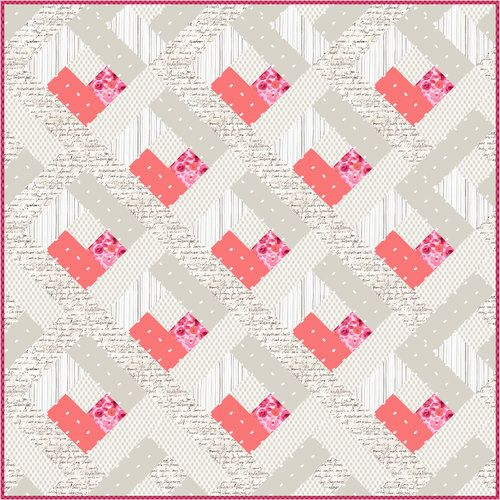 Lovely Ladies Elegant Pink Flamingos /& Love Hearts 100/% Cotton Patchwork Fabric