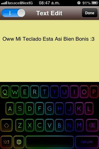 Mi teclado es así lindo :)