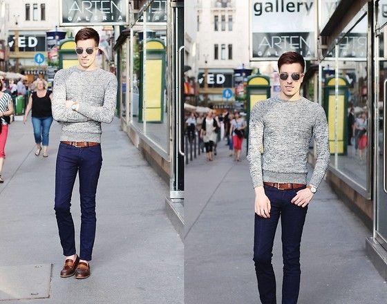 H Blue Sweater, Zara 8/9 Pants