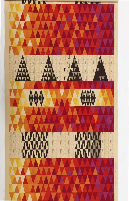 sven markelius. pythagoras. 1953. linen and cotton, screen-printed.