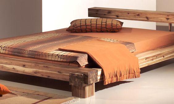 SAM® Balkenbett JAKOB mit Schubkästen Holzbett 160x200 cm - dream massivholzbett ign design