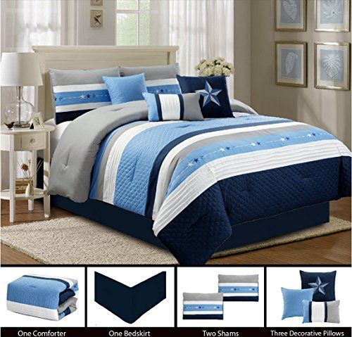 Better Homes And Gardens Nina 7 Piece Comforter Bedding Set