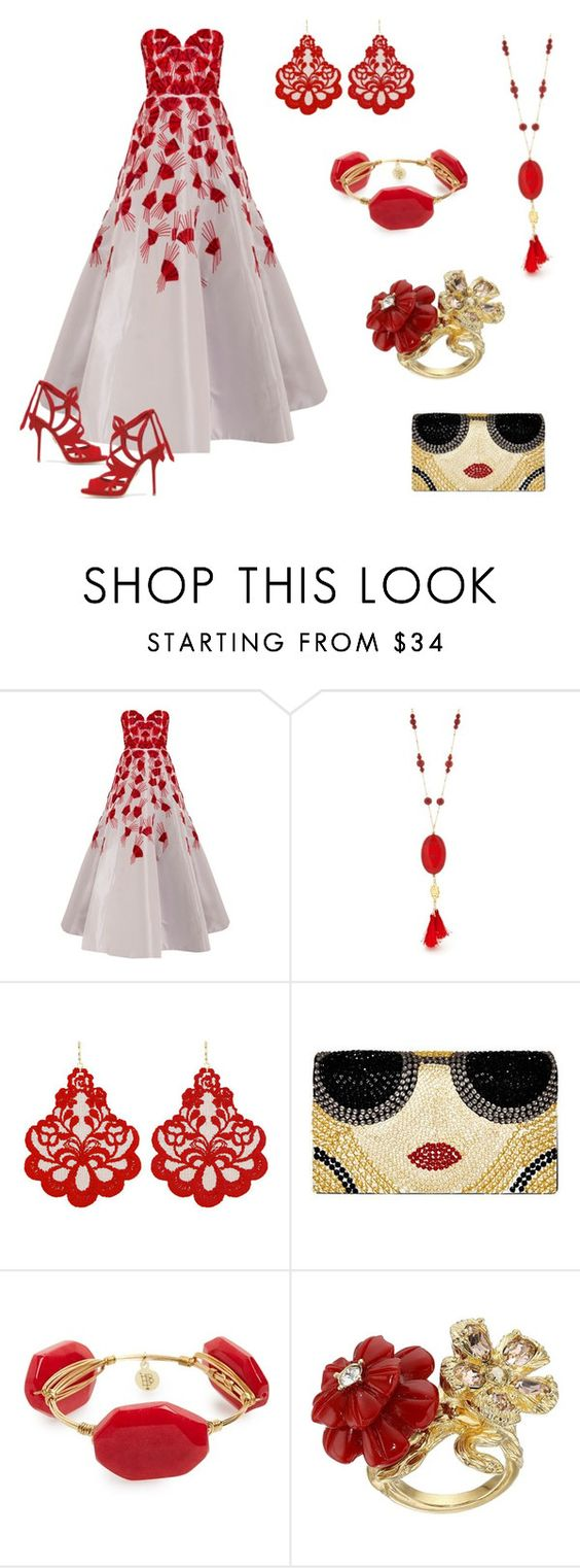"""Run for the Red Carpet"" by veryhungrycaterpillar ❤ liked on Polyvore featuring Andrew Gn, Chaps, Tità Bijoux, Alice + Olivia, Bourbon and Boweties, Alexander McQueen and Paul Andrew"