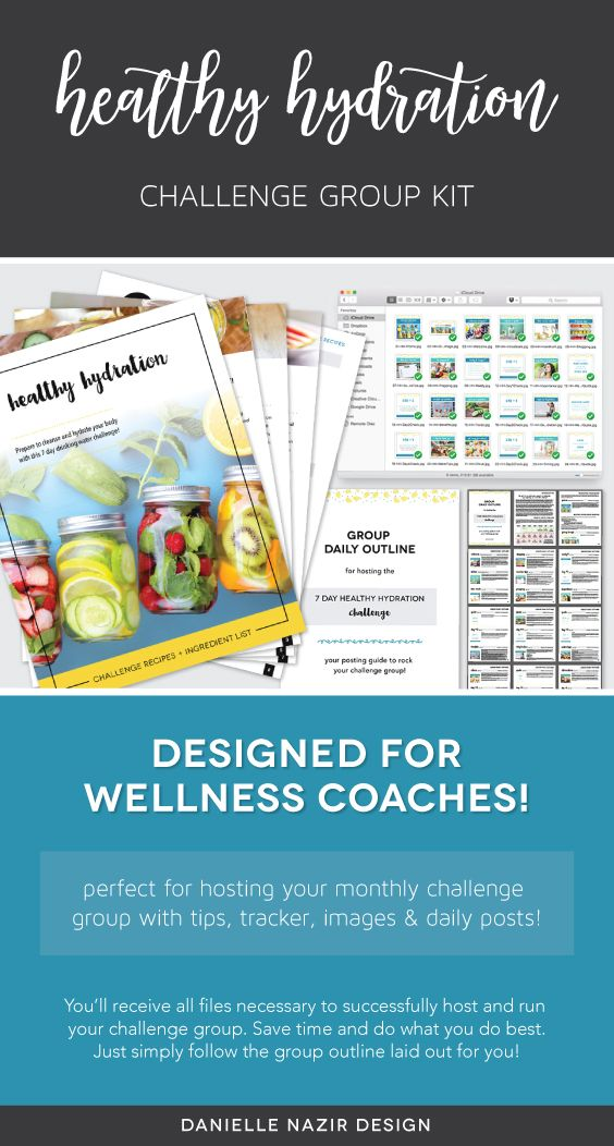Coach Group Bundle 7 Day Healthy Hydration Challenge Water