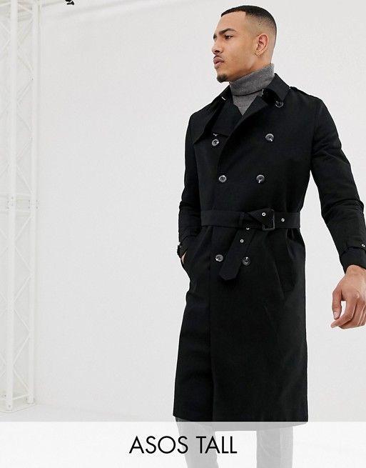 Asos Design Tall Shower Resistant, Asos Trench Coat Men