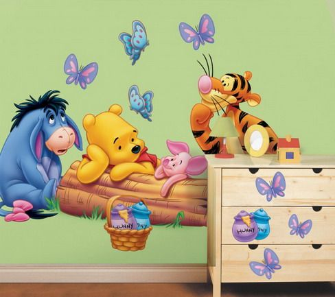 for Baby pooh and friends wall mural