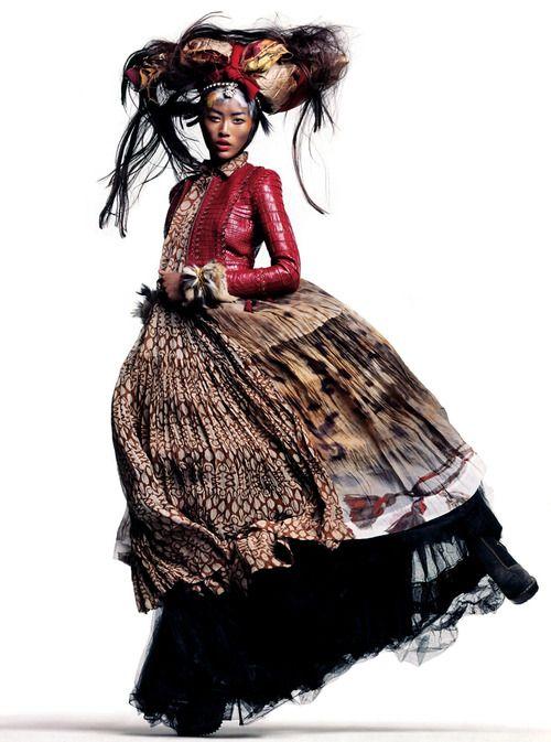 #liu wen #thomas schenk #vogue spain #fashion