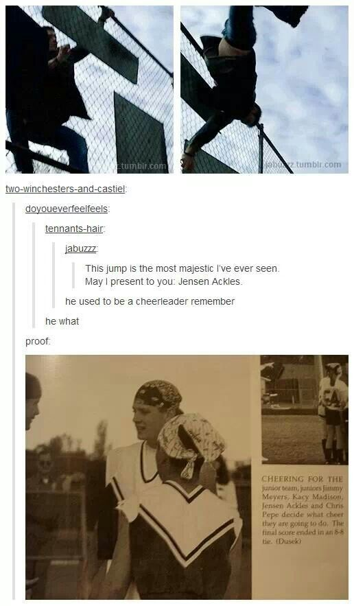 Jensen Ackles cheerleader