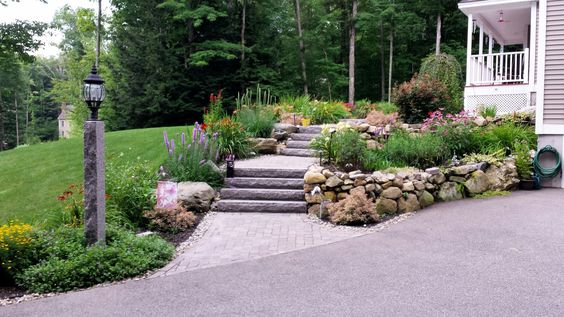 A beautiful way to accent your walkway.