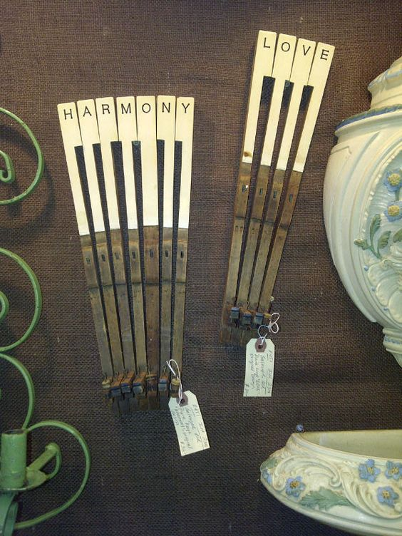 Repurposed piano keys from CRASH booth in our Buford store - We love these!