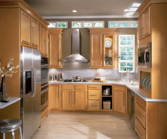 Contemporary Kitchens Birch Cabinets And Contemporary