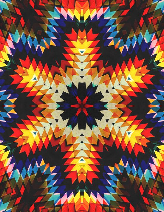 "Check out Society6 post by Phil Perkins (@perkinsdesigns) titled ""Colorful Geometric Abstract"""