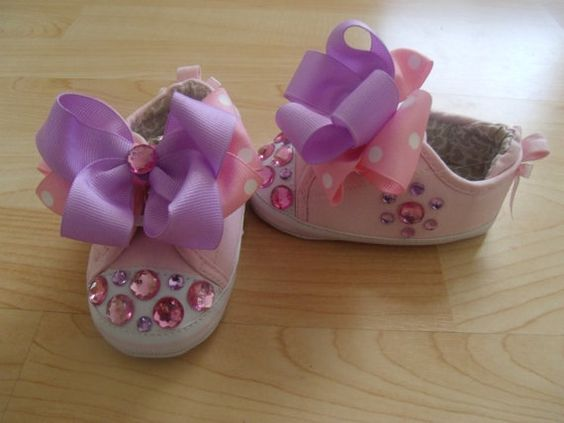 Baby Girl Carter's Pink Canvas shoe w/ by DressMeUp2Dream on Etsy, $18.00