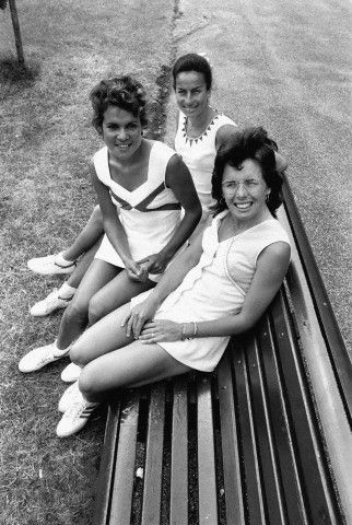 Billie Jean King, Yvonne Goolagong et Virginia Wade 1973
