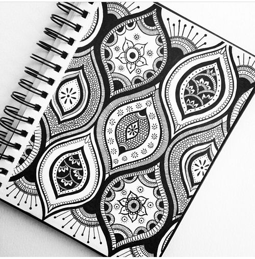 Zentangle exp rience and motifs on pinterest for Motif dessin