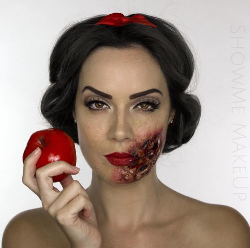 This Womans Zombie Disney Princess Makeup Will Make You...