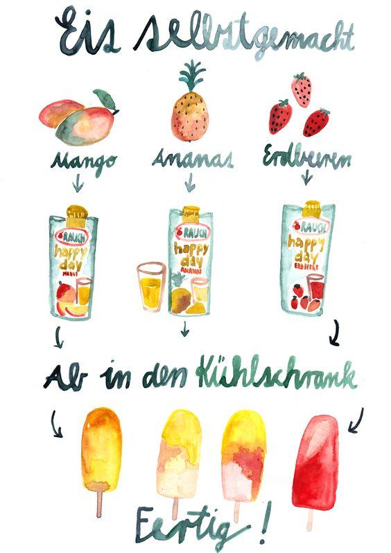 Eisillustration von Sarah Neundorf für HerzundblutxRauch