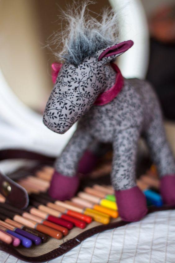 Mini Plush Horse or Unicorn by EstherMouse on Etsy