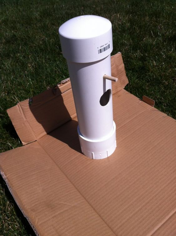 Bird feeders and birds on pinterest for How to make pvc pipe birds