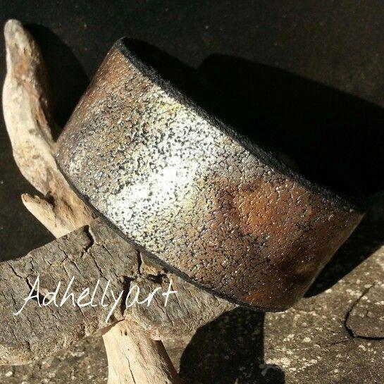 """Oxydes"" Bangle Cernit polymer  clay"