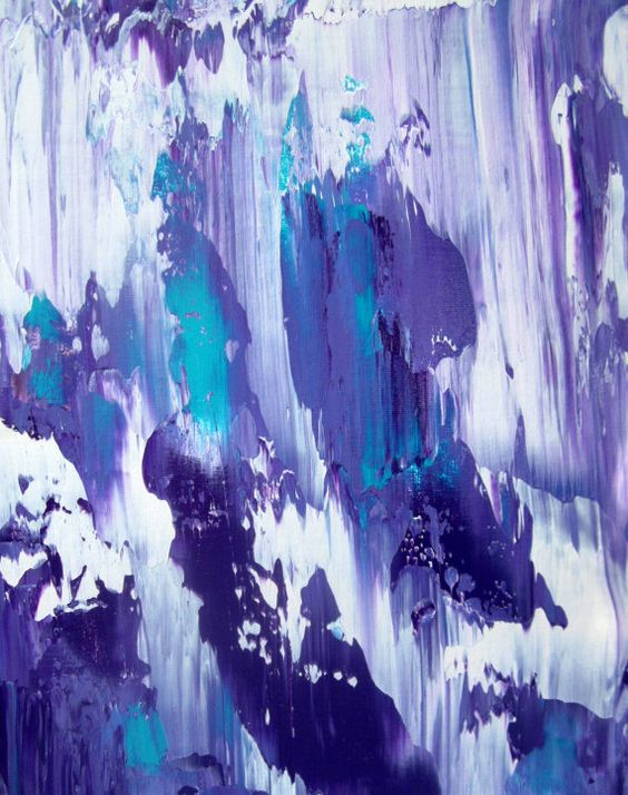 Purple And Teal Abstract Purple Painting Purple Art Abstract Purple Paint