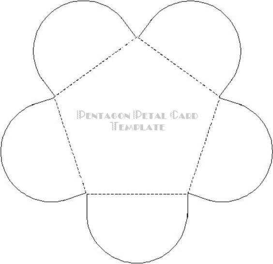 Petal Card & other paper craft templates
