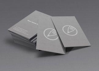 SIlver – Mockup para cartão de visitas – Premium