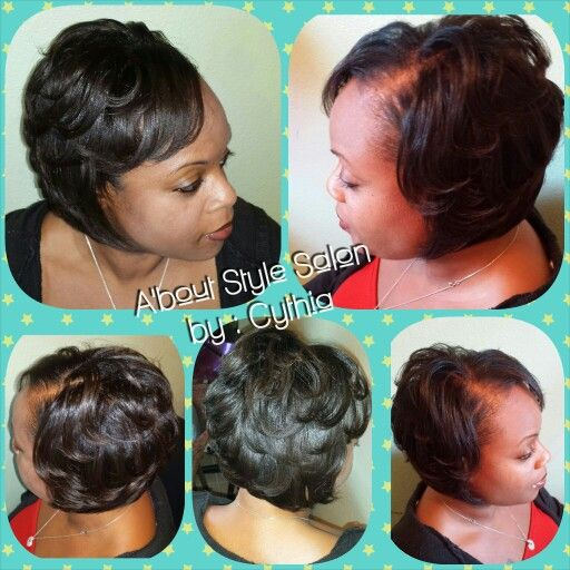 You can never go wrong with a Layered Bob A'bout Style Salon by : Cythia Collins-Greene Fort Worth, TX