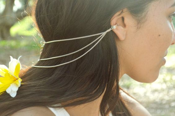Ear Cuff Earring Boho Bohemian Hipster Silver by FunnyPeopleCo, $20.00: