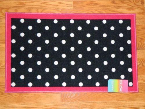 pink polka dot rug - rugs ideas