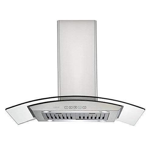 Ciarra 36 In Island Mount Range Hood Stainless Steel Ducted Ductless Convertible Duct Chimney Kitchen Stove Hood Vent With Aluminum Baffle Filters 450cfm Led Li Stainless Steel Range Hood Range Hood Stainless Steel Range