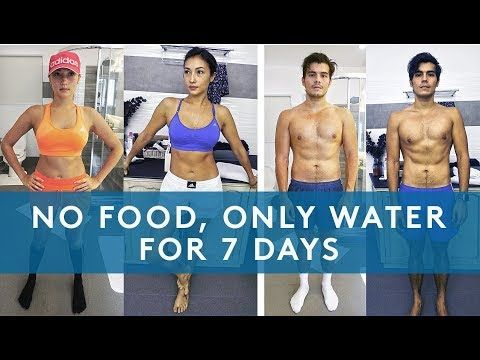 eat meals but drink only water diet