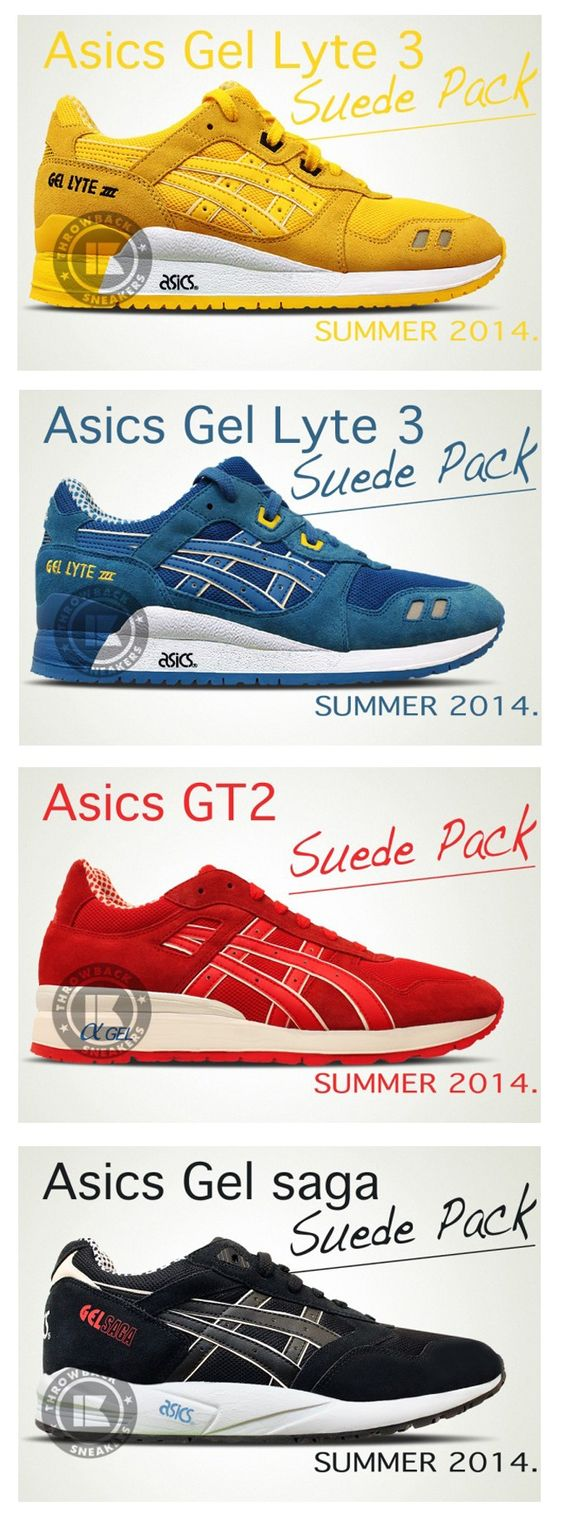 ASIC Gel Suede Pack (Asics (Asics Gel Lyte III - Asics Lyte Gel Saga - Asics GT II) 85687ae - alleyblooz.info